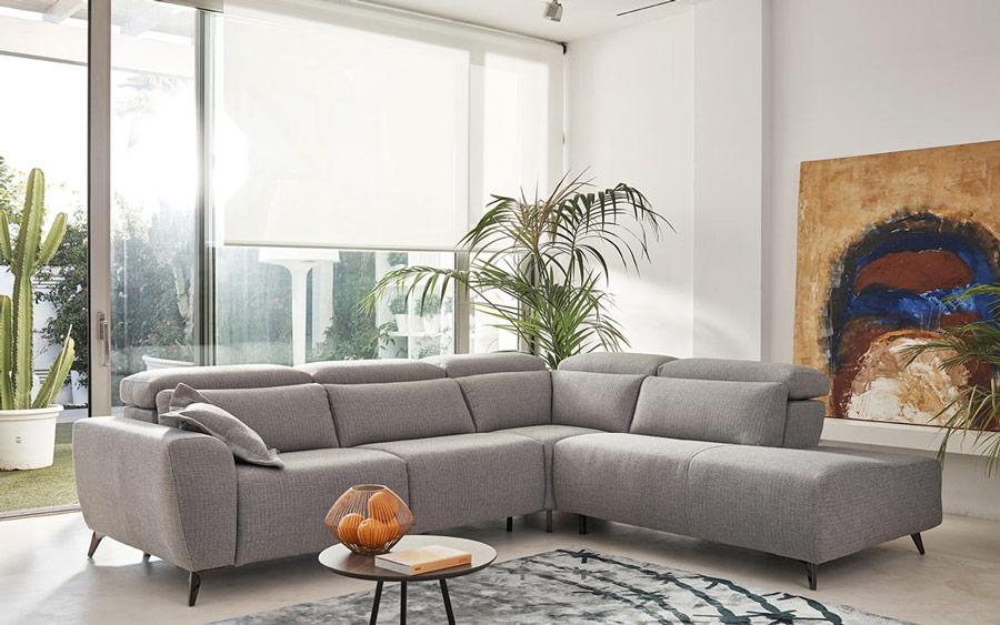 Sofá Rinconera 10c-0001 color gris vista ambiente