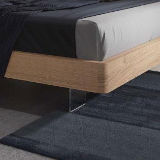 Somier de dormitorio de matrimonio 11a-0016 color roble vista de detalle