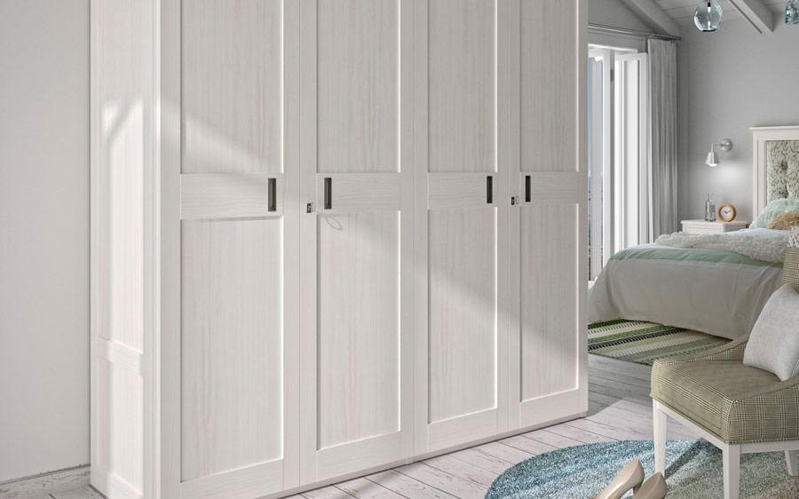 Armario de puertas abatibles 11b-00001 color blanco vista general