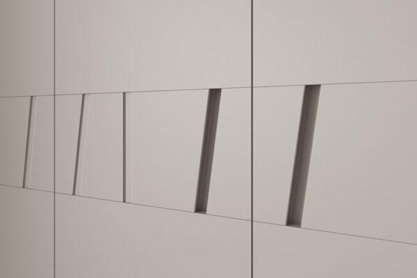 Tiradores geométricos de armario de dormitorio 11b-0002 color beige vista de detalle
