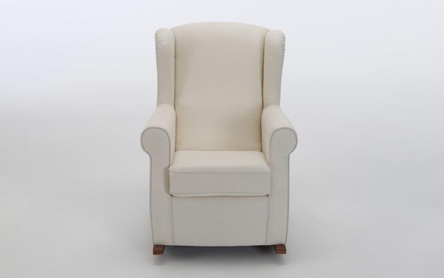 Butaca balancín 10a-0011 color beige vista técnica frontal