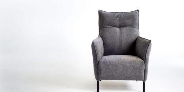 Butaca fija 10a-0009 color gris vista técnica frontal