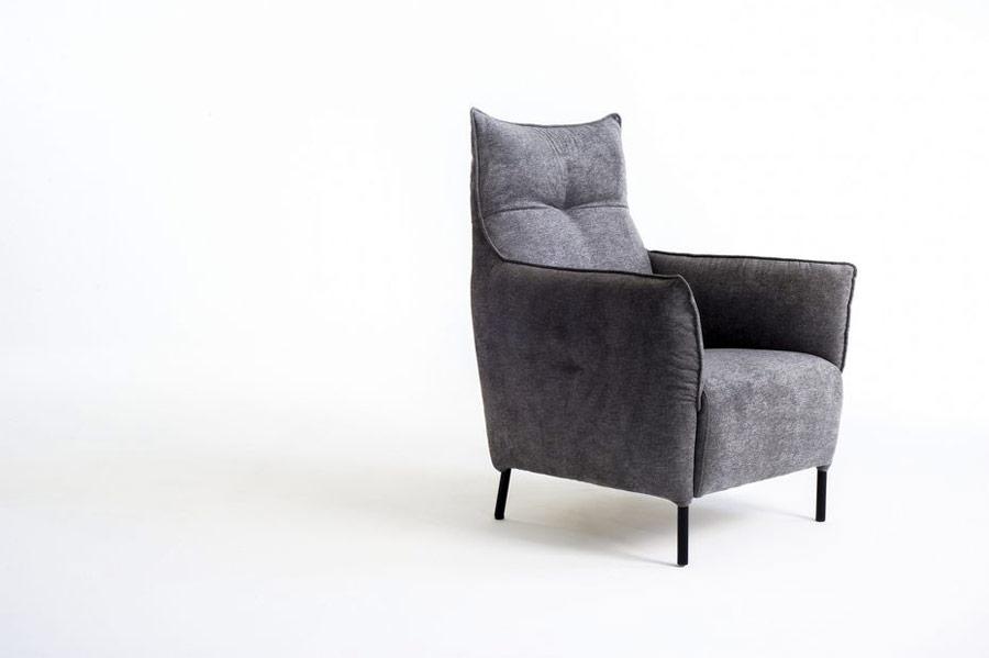 Butaca fija 10a-0009 color gris vista técnica