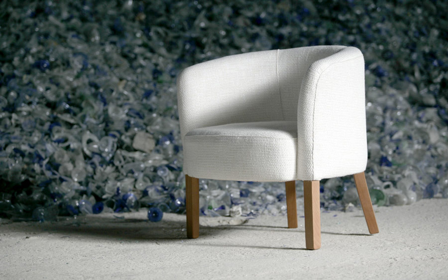 Butaca fija 10a-0017 color blanco vista ambiente