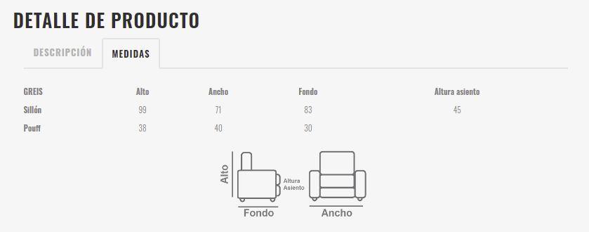 Ficha técnica de butaca 10a-0008