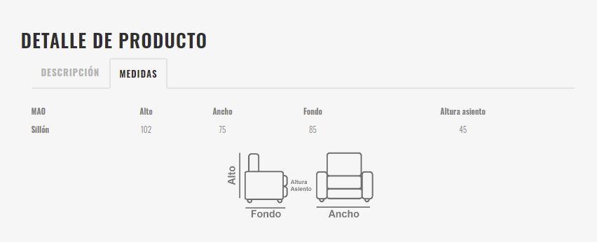 Ficha técnica de butaca 10a-0009