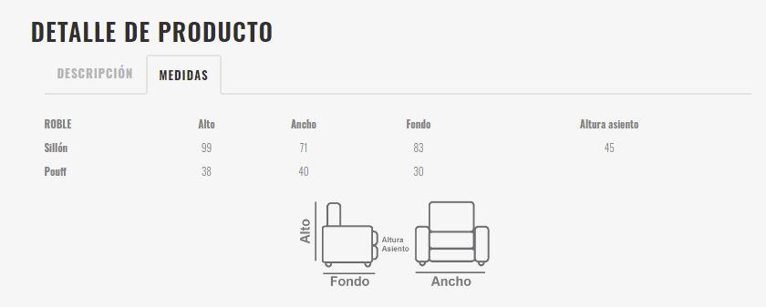 Ficha técnica de butaca 10a-0010