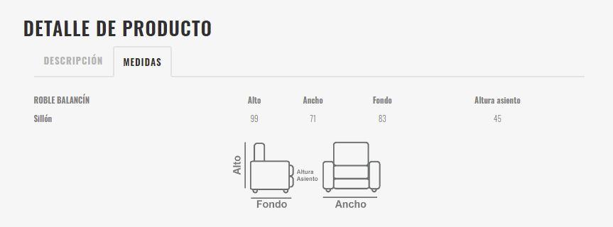 Ficha técnica de butaca 10a-0011