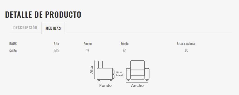 Ficha técnica de butaca 10a-0012