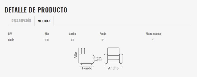 Ficha técnica de butaca 10a-0013
