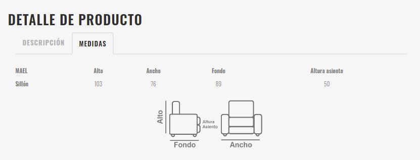 Ficha técnica butaca 10a-0014