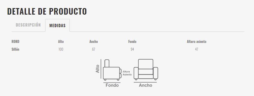 Ficha técnica butaca 10a-0015