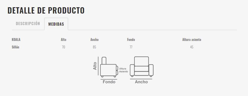 Ficha técnica butaca 10a-0016