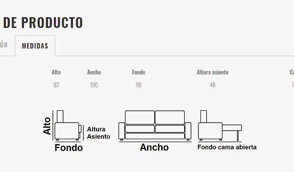 Ficha técnica sofá cama 10e-0011
