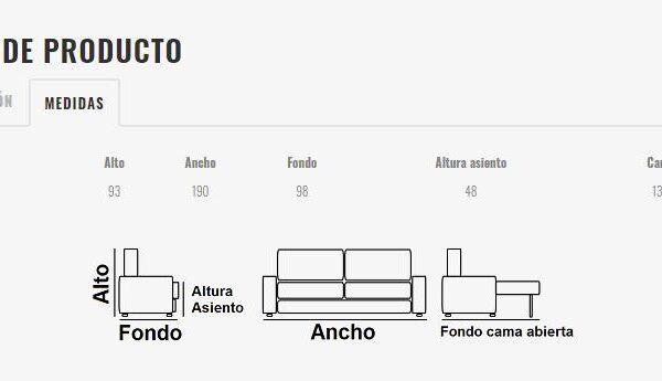 Ficha técnica sofá cama 10e-0012
