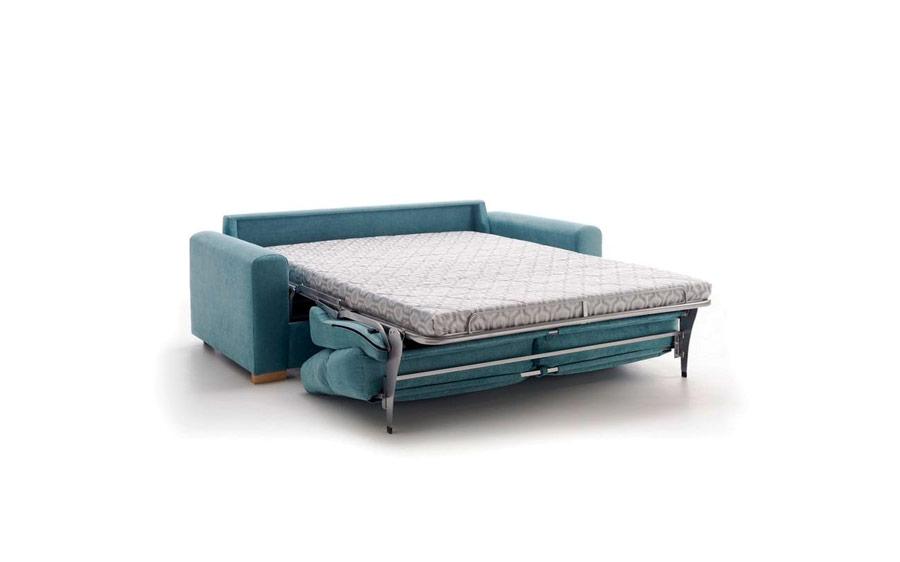 Detalle de sofá cama 10e-0010 color azul abierto