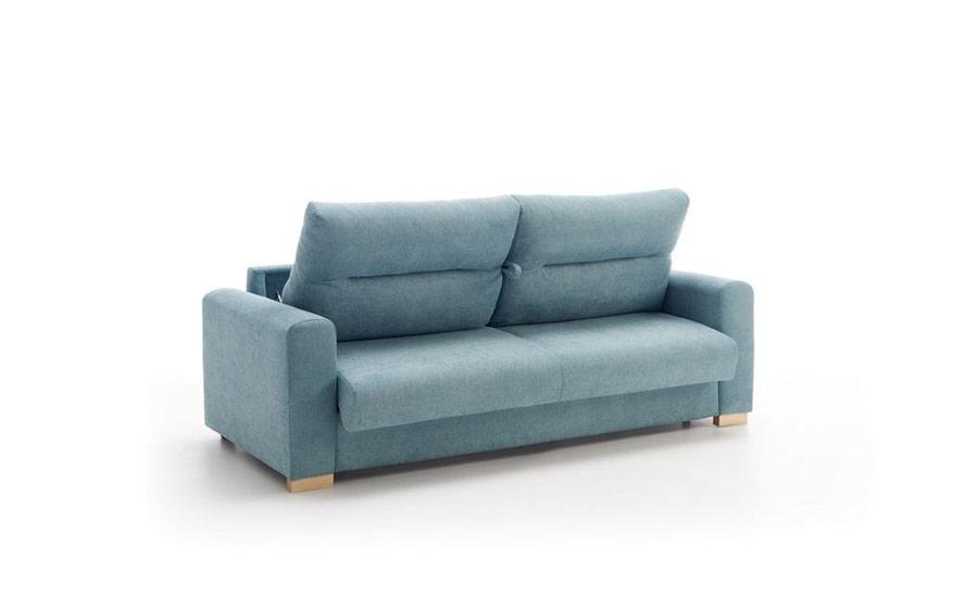 Detalle de apertura de sofá cama 10e-0010 color azul posición 1