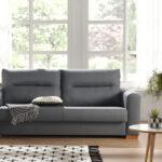 Sofá cama 10e-0010 color gris vista de ambiente