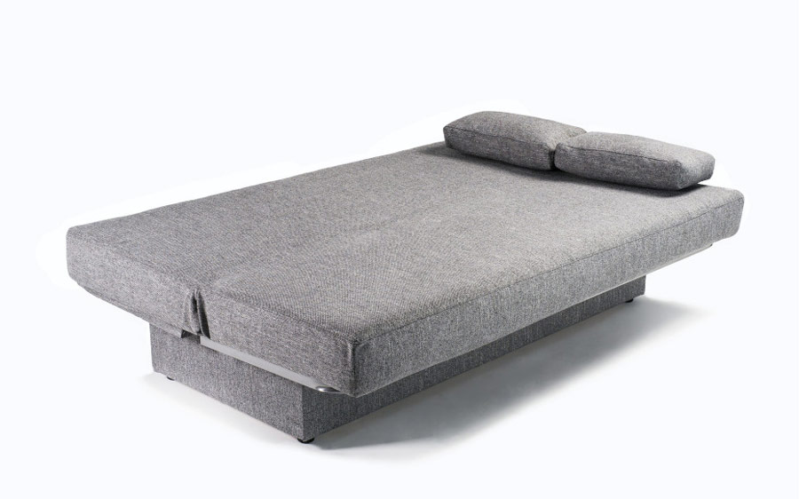 Sofá cama 2-3 plazas 10e-0012 color gris vista de detalle cama