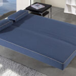 Sofá cama sistema de empuje 10e-0011 color azul vista de detalle cama